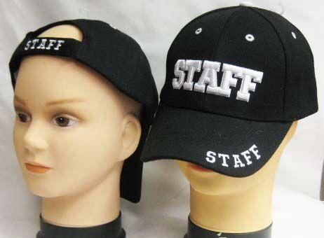 "Staff Backstage Caps Justerbar Caps med ""Staff"" brodert"