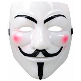 Anonymous / Vendetta / Guy Fawkes Maske Størrelse 19 x 21 cm - Large