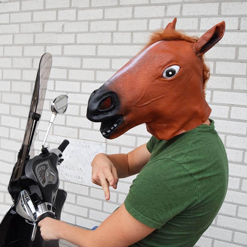 Hestehode Maske Horse Head Mask Gjør festen/hverdagen litt morsommere!