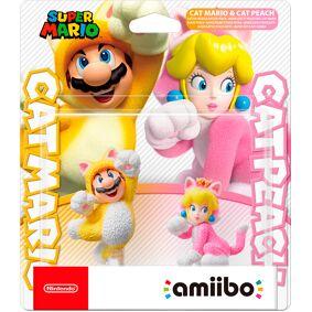 Amiibo Figur Cat Mario & Cat Peach