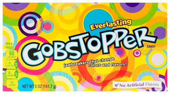 Wonka Everlasting Gobstopper 141g Godterikuler som skifter smak og farge
