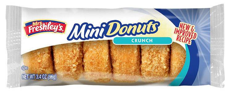 Mrs Freshleys Mini Donuts Crunch - 96g