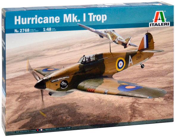 Hurricane Mk.1 Trop Italeri 1:48 Byggesett