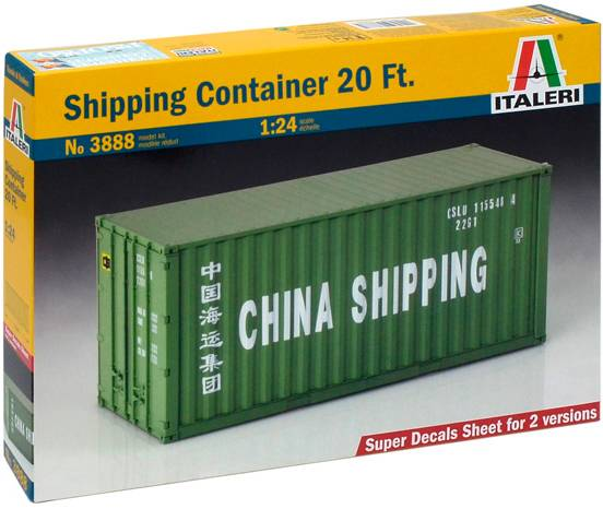 Shipping Container 20 Ft Italeri 1:24 Byggesett