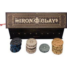 Iron Clays Mynter 100 Sjetonger m/verdi Luxury Game Counters Retail Edition