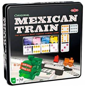 Mexican Train Domino Original Brettspill Metallboks