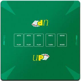 Poker Playmat/Spillmatte 60x60 cm Ultra Pro - For Texas Hold'Em/Omaha