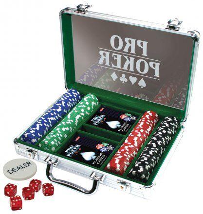 Pro Poker Pokersett med 200 sjetonger