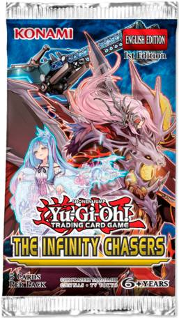 Infinity Yu Gi Oh Infinity Chasers Booster 5 kort per pakke