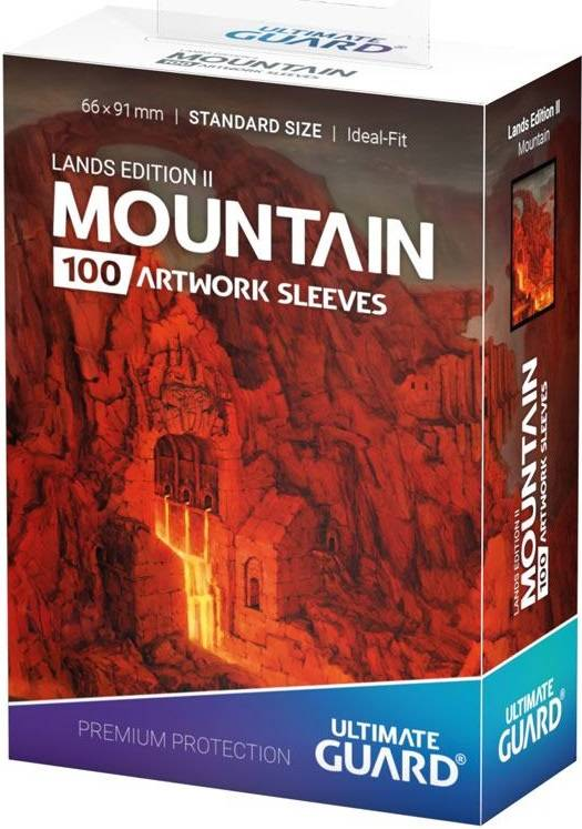 Sleeves Lands Rød Mountain x100 66x91 Ultimate Guard Kortbeskytter/DeckProtect