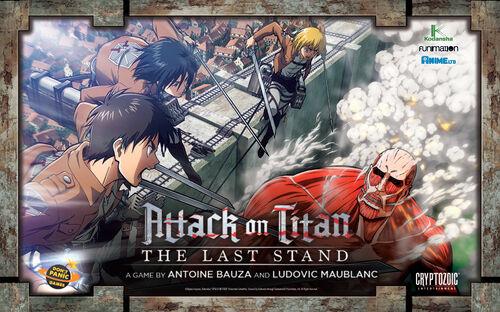 Titan Attack on Titan Last Stand Brettspill