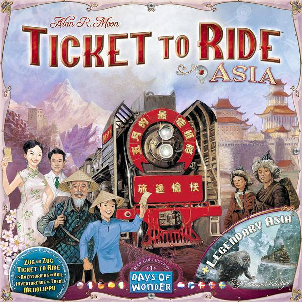 Ticket to Ride Asia Map Collection 1 Tilleggspakke til Ticket to Ride/Europe