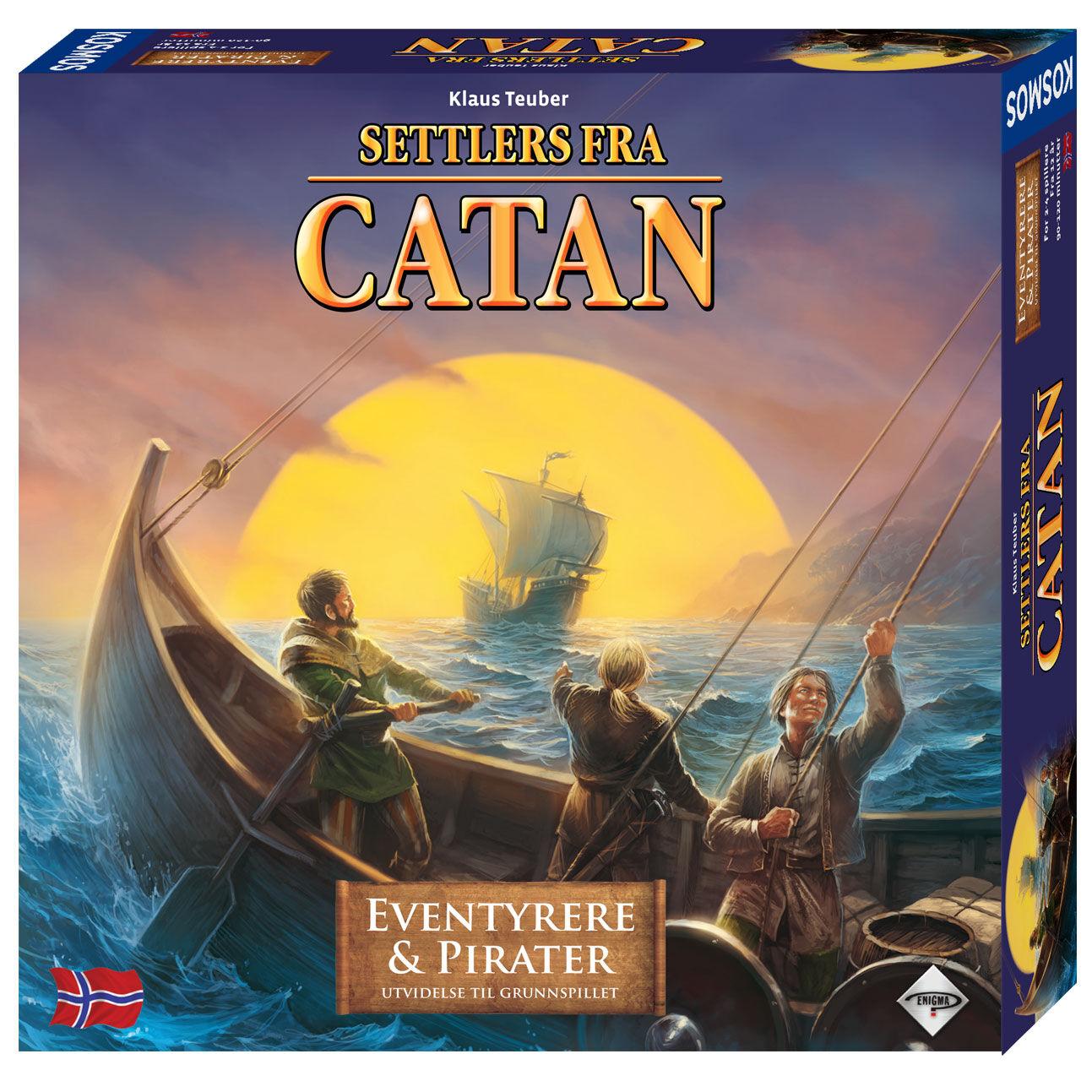 Catan Eventyrere og Pirater Norsk Utvide 3-4 Utvidelse Eventyrere og Pirater