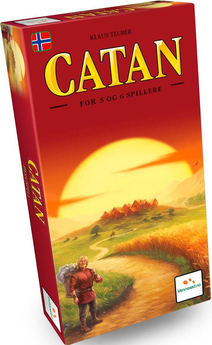 Catan 5-6 spillere Ekspansjon Norsk Settlers fra Catan Utvidelse 5-6 sp