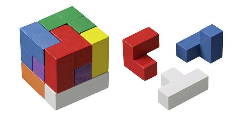 Cube Tetris Puzzle Cube - 7 brikker