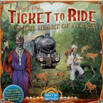 Ticket to Ride Africa Map Collection 3 The Heart of Africa - Tilleggspakke
