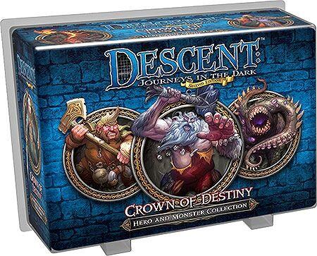Crown Descent Crown of Destiny Hero&Monster Tilleggspakke til Descent Brettspill