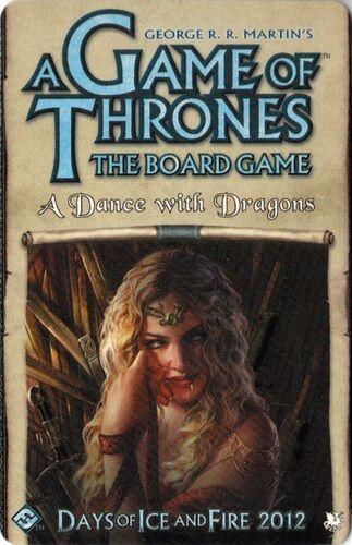 Game of Thrones Dance with Dragons Exp. Utvidelse til Brettspillet 2nd Edition
