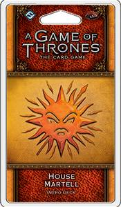 Game of Thrones TCG Martell Intro Deck House Martell - Ferdigbygget deck