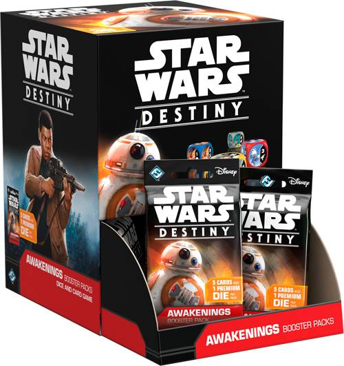 Star Wars Destiny Awakenings Display 36 boosterpakker á 5 kort + 1 terning