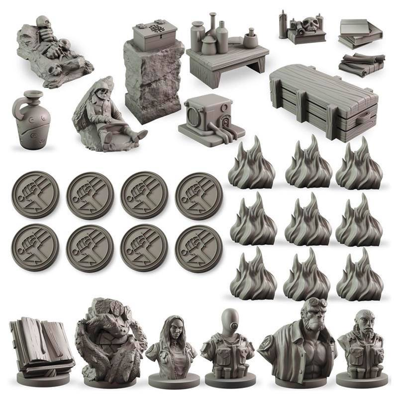 Hellboy Board Game Counter Upgrade Set Oppgraderingssett til Hellboy Board Game