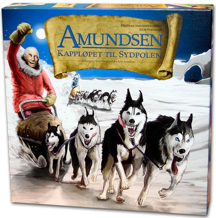 Amundsen Kappløpet Sydpolen Brettspill Kappløpet til Sydpolen