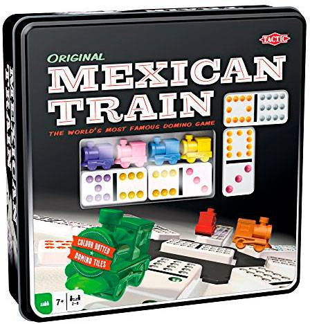 Mexican Train Domino Original Brettspill Metallboks