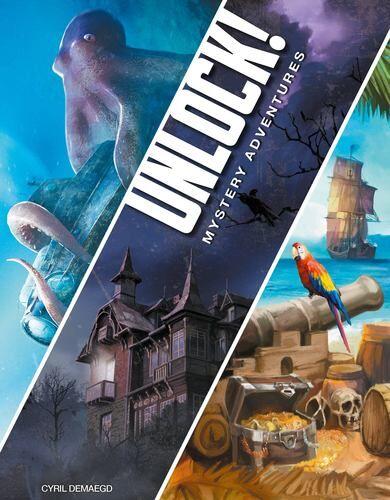 Unlock 2 Mystery Adventures Kortspill Inneholder 3 forskjellige scenarioer