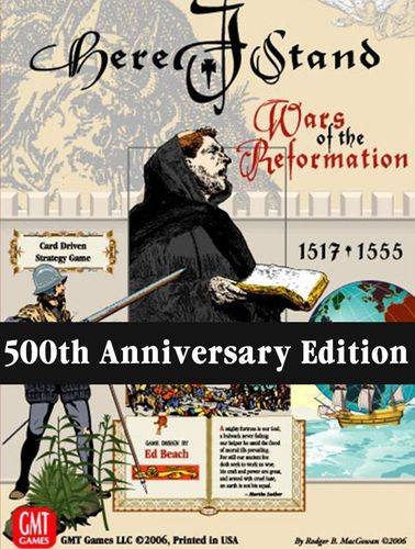 Here I Stand Wars of the Reformation 500th Anniversary Edition Brettspill