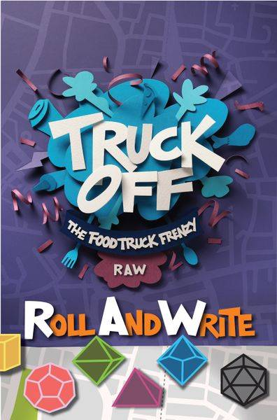 Truck Off Roll & Write Brettspill Food Truck Frenzy