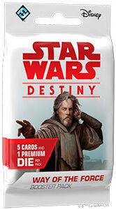Star Wars Destiny Way of the Force Boost Booster 5 tilfeldige kort + 1 terning