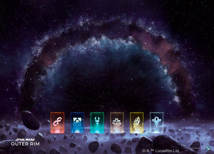 Star Wars Outer Rim Game Mat Spillmatte til Star Wars Outer Rim