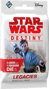 Star Wars Destiny Legacies Booster 5 tilfeldige kort + 1 terning