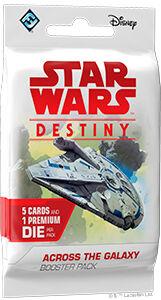 Star Wars Destiny Across Galaxy Booster Booster 5 tilfeldige kort + 1 terning