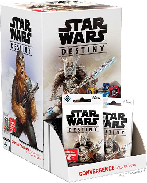 Star Wars Destiny Convergence Display 36 boostere - 5 kort/1 terning pr pakke