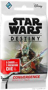 Star Wars Destiny Convergence Booster 5 tilfeldige kort + 1 terning