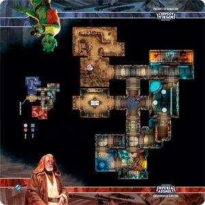 Star Wars IA Anchorhead Cantina Playmat Imperial Assault Skirmish Map 66X66 cm