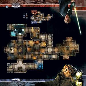 Star Wars IA Skirmish Map Jabbas Palace Playmat Star Wars Imperial Assault