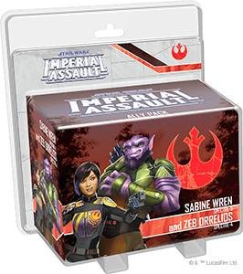 Star Wars IA Sabine Wren & Zeb Orrelios Utvidelse til Star Wars Imperial Assault
