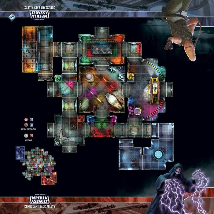 Star Wars IA Coruscant Back Alleys Map Playmat Star Wars Imperial Assault