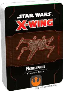 Star Wars X-Wing Resistance Deck Damage Deck til X-Wing Second Edition