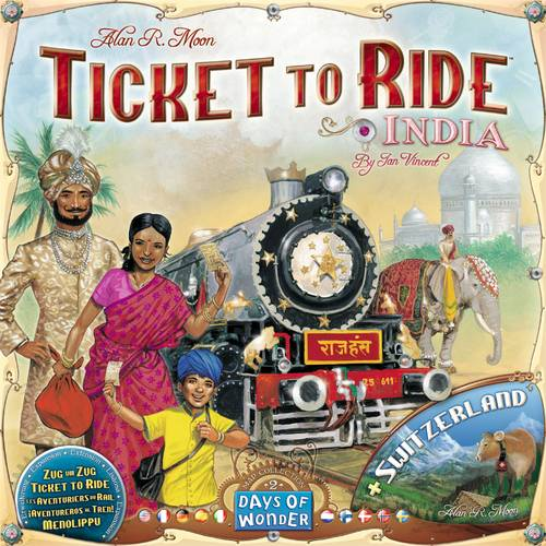 Ticket to Ride Map Coll 2 India/Switzerl Utvidelse - Map Collection 2