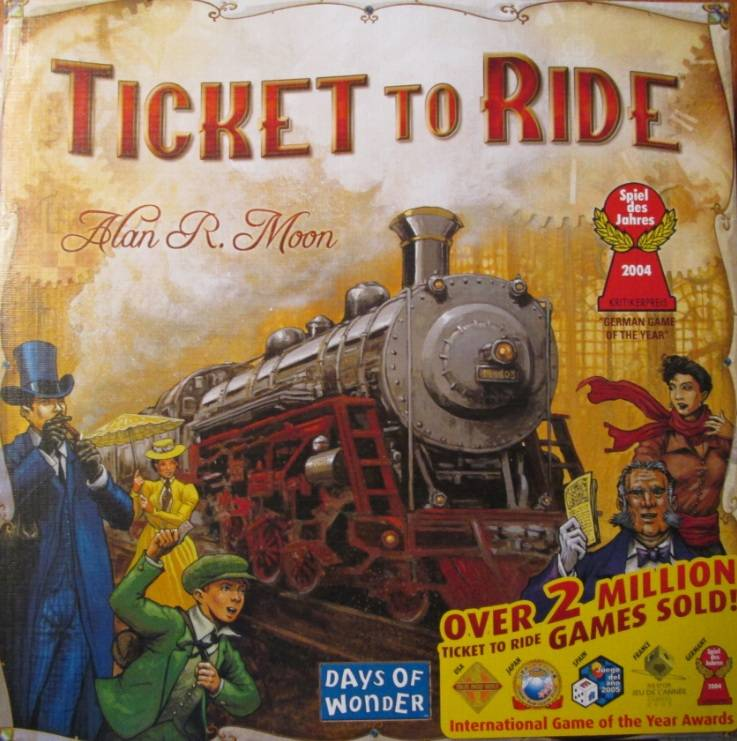 Ticket to Ride Brettspill Det originale Ticket to Ride spillet