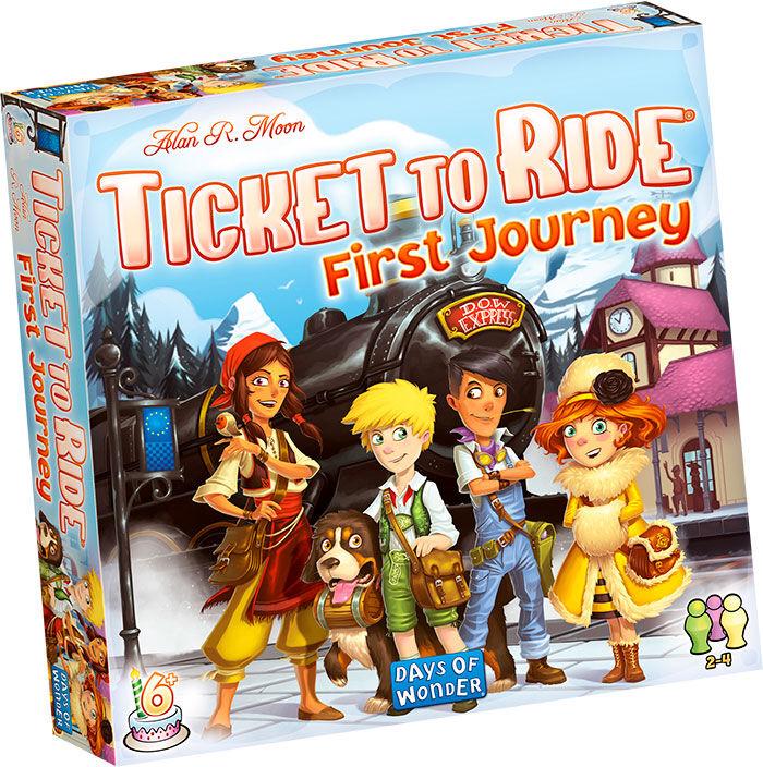Ticket to Ride First Journey Brettspill Norske regler - euroepisk kart.