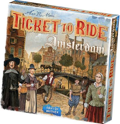 Ticket to Ride Amsterdam Brettspill Norsk utgave
