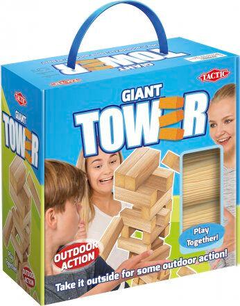 Giant Tower Utendørsspill Jenga 43 cm Stor Jenga
