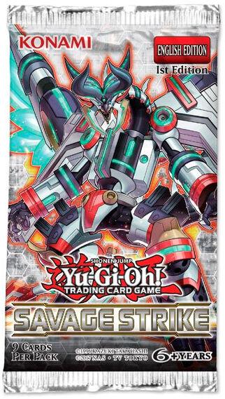 Yu Gi Oh Savage Strike Booster 5 kort per pakke