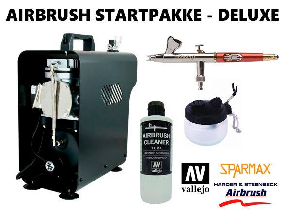 Airbrush Startpakke DELUXE - Komplett Alt du trenger for å komme igang