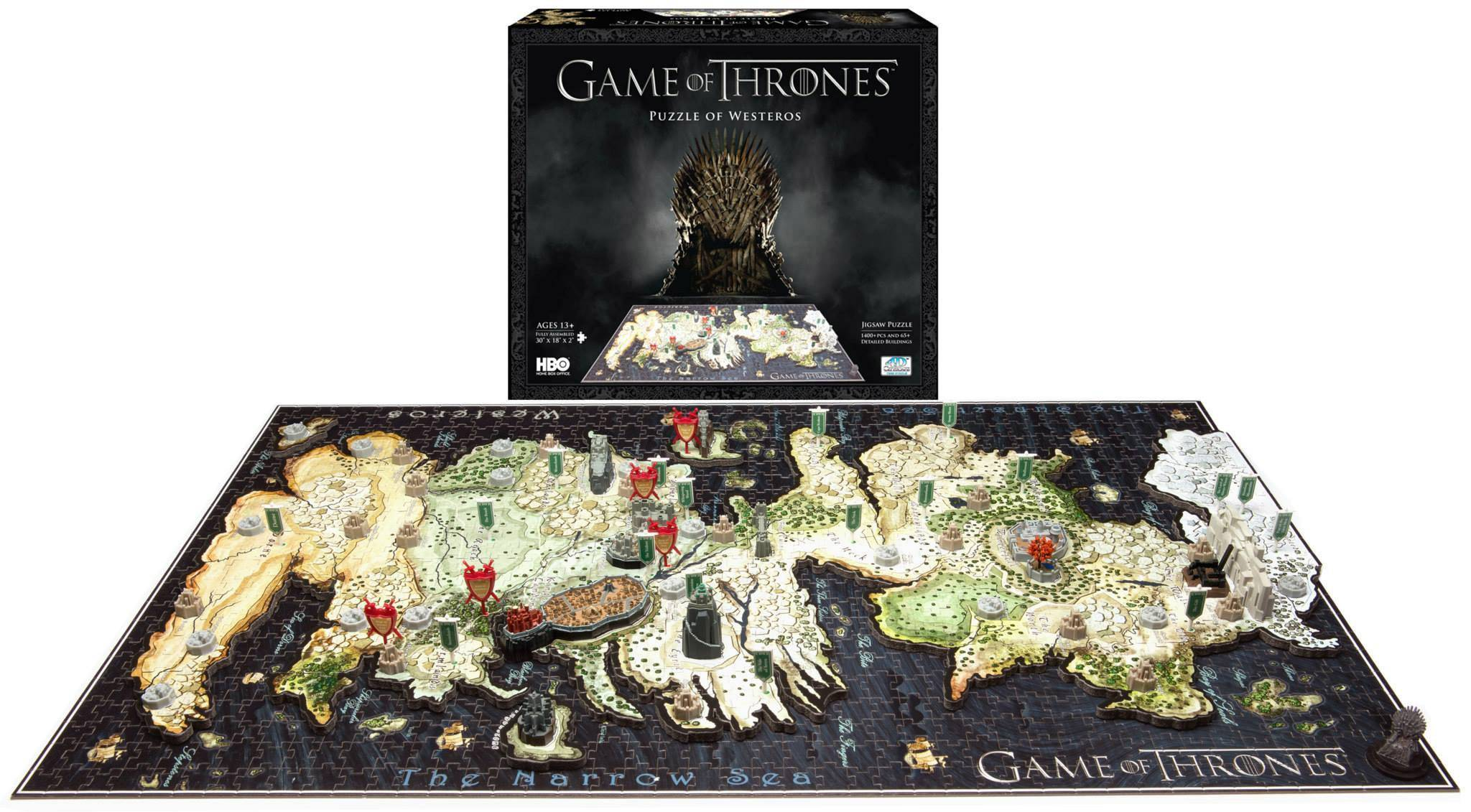 Game of Thrones 3D Puslespill 1500 biter Westeros - 76 x45 x 5 cm