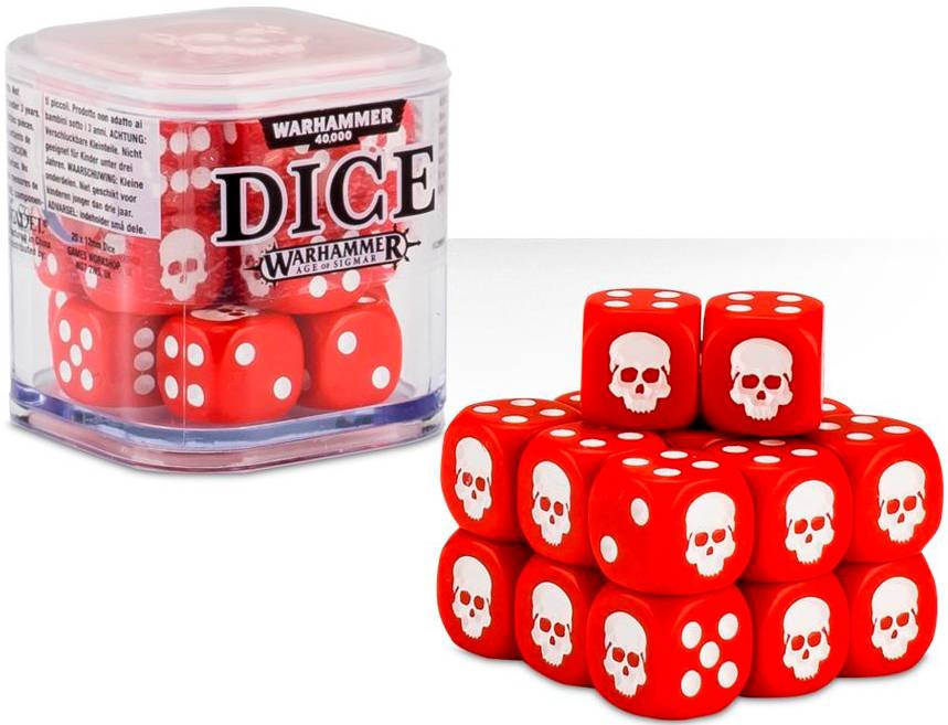 Cube Dice Cube Red - 20 stk 20 terninger til Warhammer 40K/Sigmar